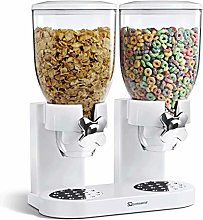 Double Cereal Dispenser Dry Food White/Black