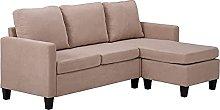 Double Chaise Loungue Combination Sofa Sectional