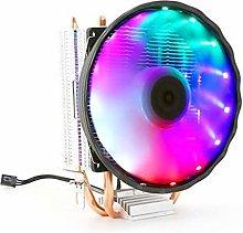 Double Copper Pipe CPU Cooler Silent Radiator Fan