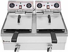 Double Cylinder Electric Deep Fryer, 16.9QT / 16L