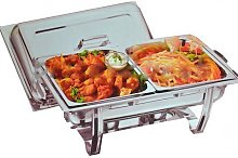 DOUBLE DELUXE CHAFING DISH SET FOOD WARMER BUFFET