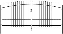 Double Door Fence Gate with Spear Top 400x225 cm -