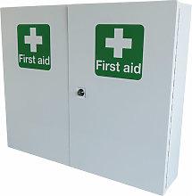 DOUBLE DOOR METAL FIRST AID CABINET - - Click