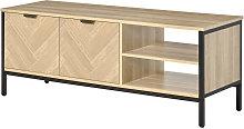 Double Door TV Cabinet Stand Storage Media Unit w/