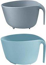 Double Drain Basket Bowl Washing Kitchen Strainer