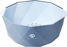 Double Drain Basket Kitchen Bowl Rice Washing