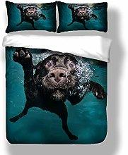 Double Duvet Cover Set Animal Dog 3D Print Quilt