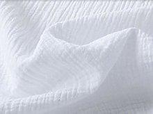 Double Gauze Fabric White Muslin 100% Cotton