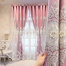 Double Layer Blackout Curtain for Girls Boys
