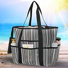 Double Layer Mesh Picnic Bag Reusable Foldable