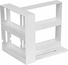 Double Layer Multi-Function Storage Rack Rotating