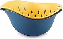 Double-layer Plastic Fruit Bowl Drain Basket