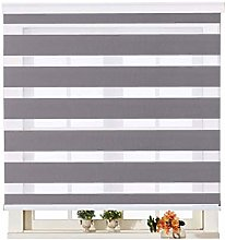Double Layer Roller Blinds, Day and Night Zebra