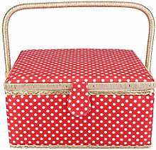 Double-Layer Sewing Basket, Portable Large Sewing