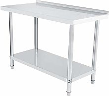 Double Layer Stainless Steel Work Table Kitchen