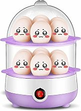 Double-Layer Timer Egg Cooker/Stainless Steel Home