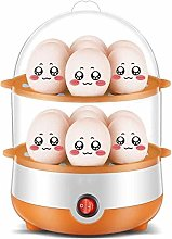 Double-Layer Timer Egg Cooker,Stainless Steel Home
