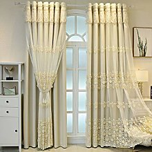 Double Layer Tulle Blackout Curtain for Living