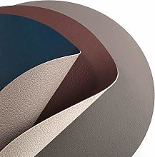 Double Layered Round Placemats Set Of 6, PU