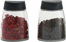 Double Lids Seasoning Shakers Glass Bottles Spice