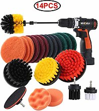 Double Nice Shoe polish brushes 14Pcs/Set Drill