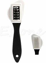 Double Nice Shoe polish brushes 3-side Cleaning