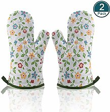 Double Oven Gloves Heat Resistant,Gauntlet Oven