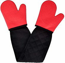 Double Oven Gloves Mitts Silicone,Oven Gloves Heat