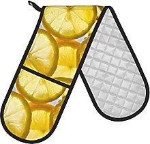 Double Oven Gloves Orange and Lemon Double Oven