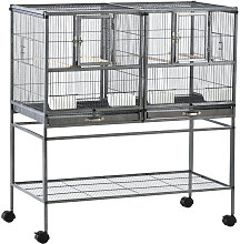 Double Rolling Metal Bird Cage w/ Removable Tray