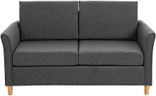 Double Seat Linen Sofa Loveseat Couch w/Armrest