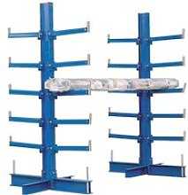 Double Sided Cantilever Bar Racks, Blue, Free