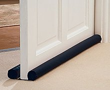 Double sided under door draught excluder insulation seal cloth cold air stop