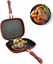 Double‑Sided Frying Pan, 28cm Red Square