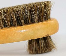 Double Sided Horsehair Round Head Brush, Soft