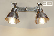Double silver-plated industrial design wall lamp