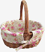 Double Steamed Oval Shopping Basket with Rose