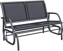Double Swing Chair Outdoor Garden Patio Glider
