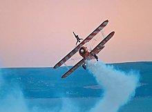 Double Wings Airplane trick-50x60cm,DIY 5D Diamond