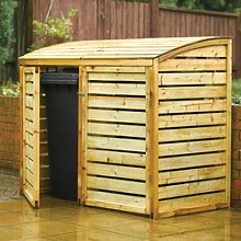 Double Wooden Wheelie Bin Storage - Rowlinson