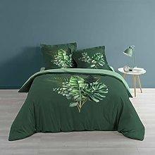 Douceur d'Intérieur Gold Tropic Bedding Set,