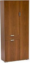 Douros 3 Door Wardrobe Ebern Designs Finish: Brown