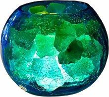 Douup Himalayan Salt Lamp With Ice Crack Texture,