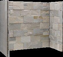 Dove Grey Stone Fireplace Chamber
