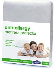 Downland Anti-Allergy Zipped Mattress Protector - Kingsize.