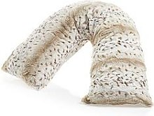 Downland Everyday Snow Leopard Print V-Shaped Faux Fur Pillow