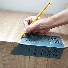 Doyeemei 1PC 3D Wood Working Ruler Square Size