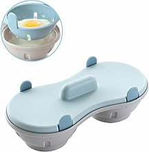 Doyime Microwave Egg Poacher Cookware Double Cup