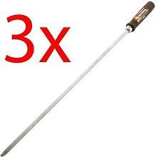 Dp - New Set Of 3 Bbq Skewers Wooden Handle 8Mm
