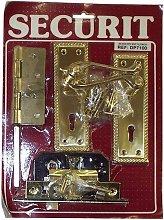 DP7100 Georgian Brass External Scroll Lock Handle